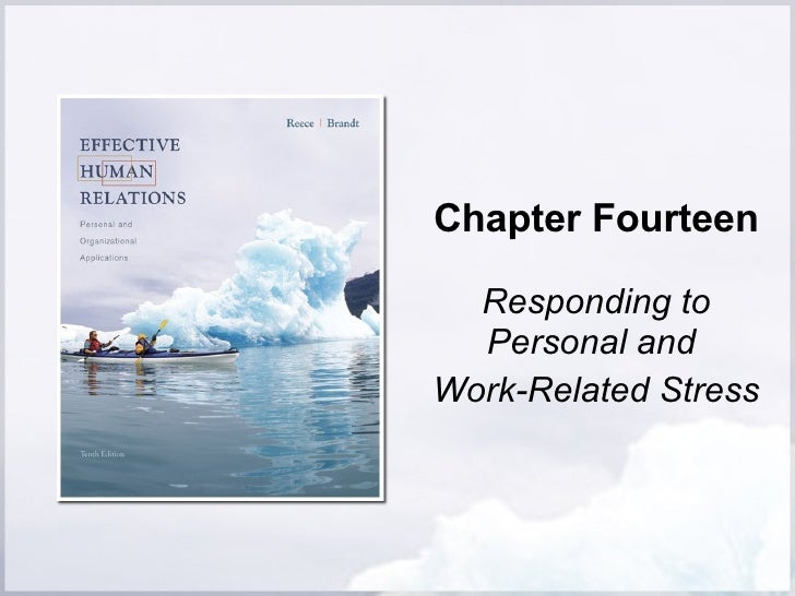 Chapter Fourteen Responding to Personal and  Work-Related Stress