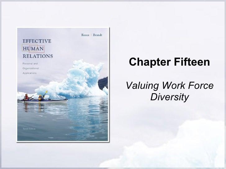 Chapter Fifteen Valuing Work Force Diversity