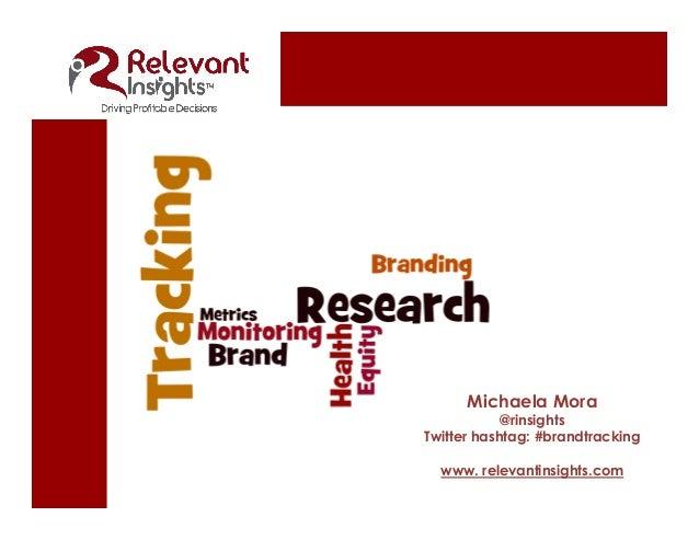 Michaela Mora @rinsights Twitter hashtag: #brandtracking www.relevantinsights.com