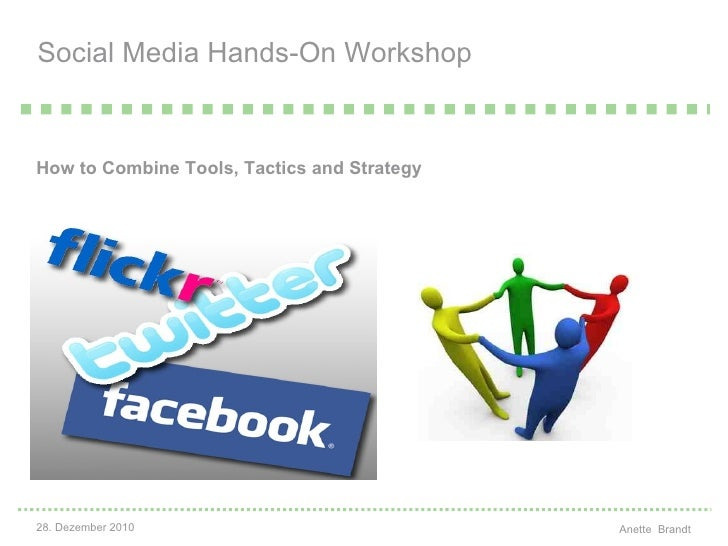Social Media Hands-On Workshop <ul><li>How to Combine Tools, Tactics and Strategy   </li></ul>