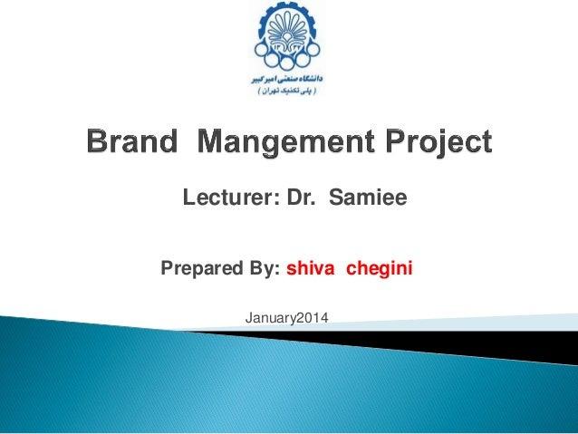 Brand value .Shiva  chegini .1