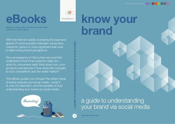 eBook 6 - Know Your Brand: A Guide to Understanding Your Brand via Social Media