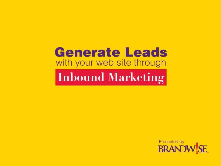 Brandwise Website Lead Generation Presentation