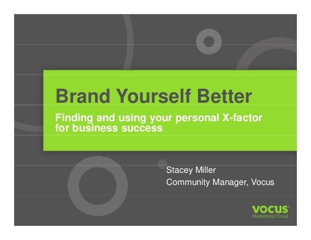 Brand Yourself Better Vocus Webinar with Stacey Miller