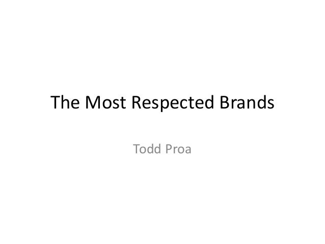 10 Most Respected Brands