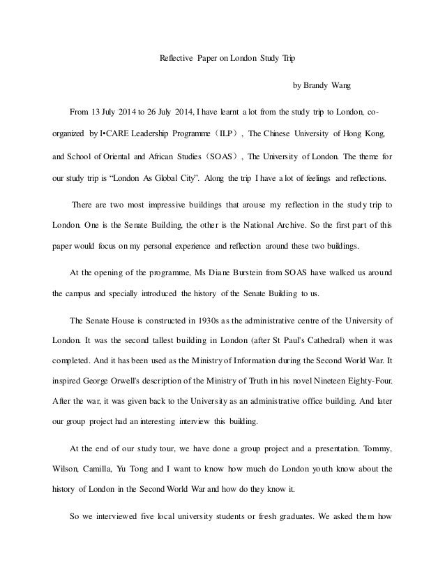 Essay On Trip To China