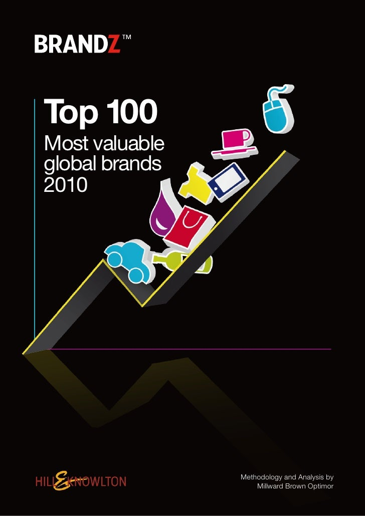 Top 100 Most valuable global brands 2010                     Methodology and Analysis by                     Millward Brow...