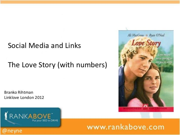 Social Media and Links The Love Story (with numbers)Branko RihtmanLinklove London 2012@neyne