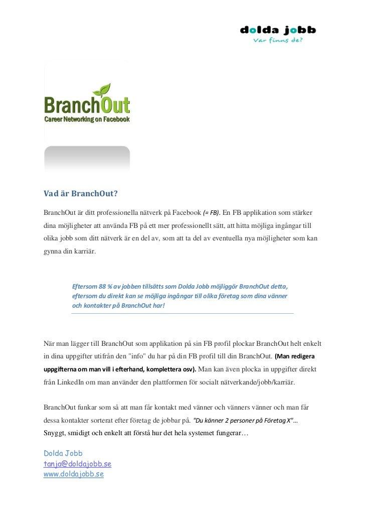 BranchOut för jobb_karriär