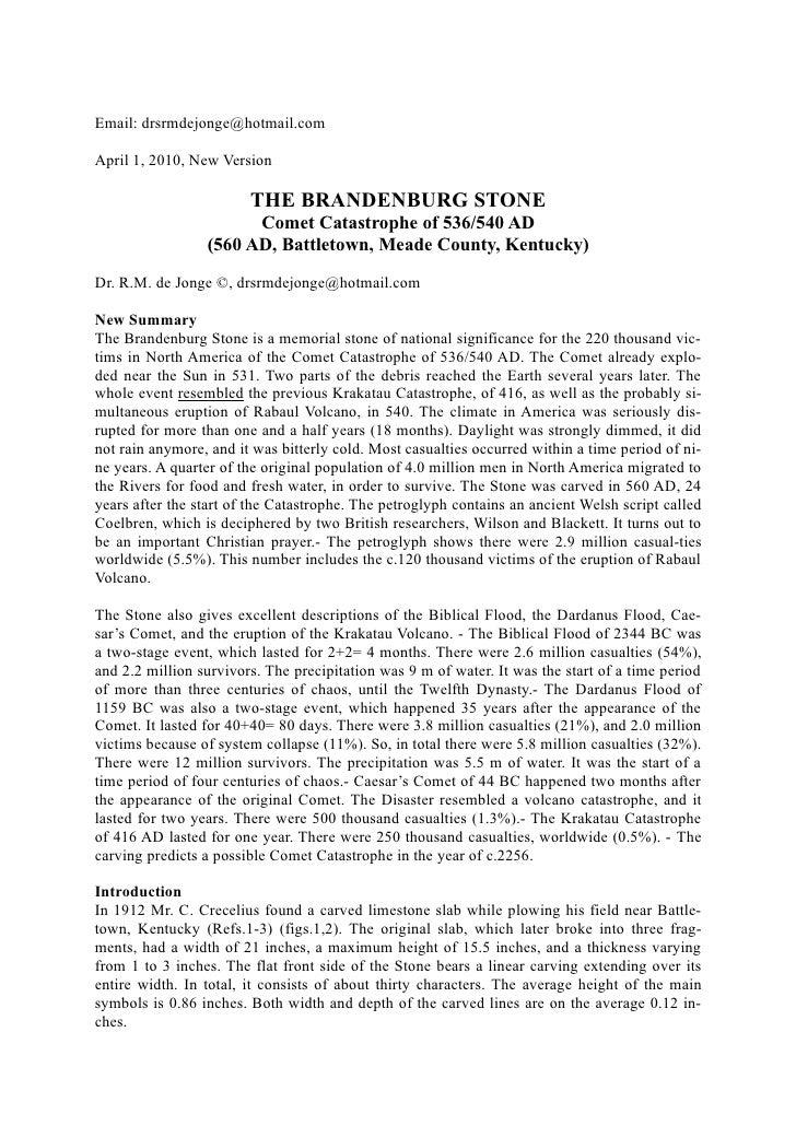 THE BRANDENBURG STONE