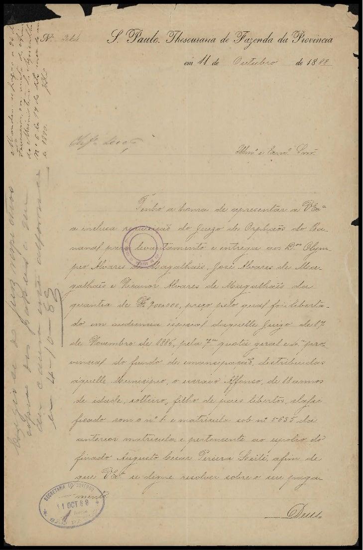 Nota da Junta de Classificação de escravos de SP - 1887