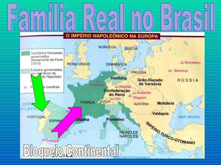 Família Real no Brasil Bloqueio Continental