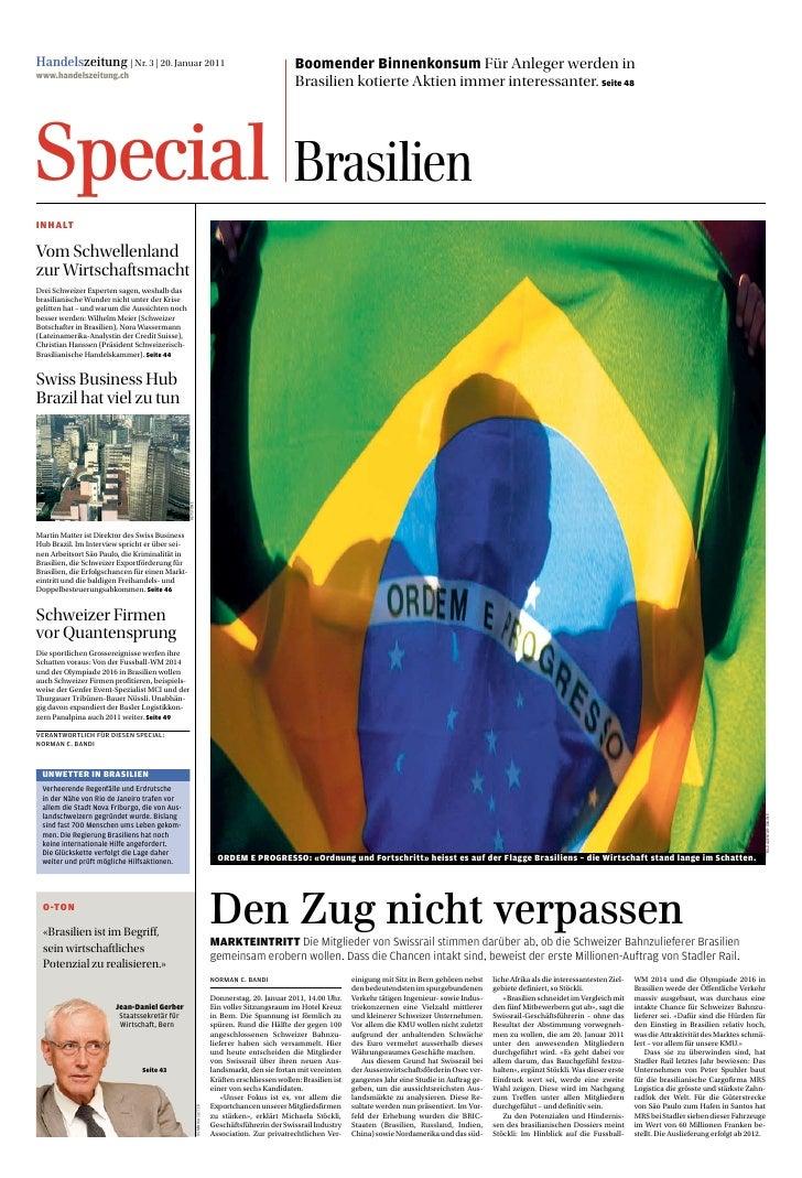 Handelszeitung | Nr. 3 | 20. Januar 2011                                                                 Boomender Binnenk...