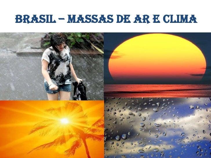Brasil massas de ar e clima