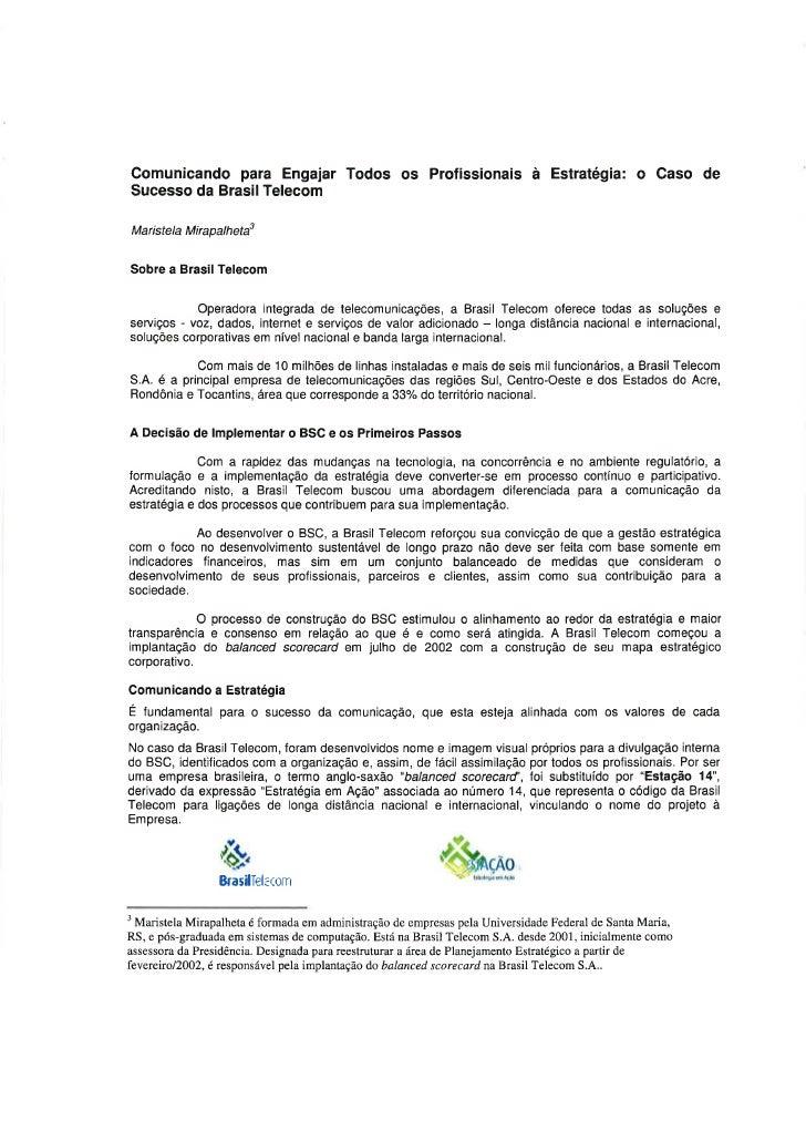 Case de Sucesso Symnetics: Brasil Telecom