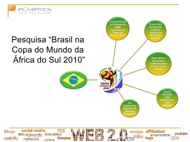 """Pesquisa """"Brasil na  Copa do Mundo da  África do Sul 2010"""""""
