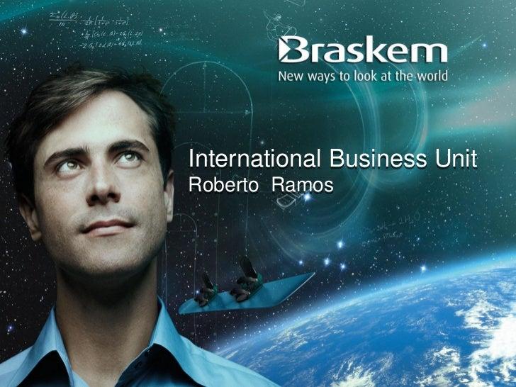 International Business UnitRoberto Ramos