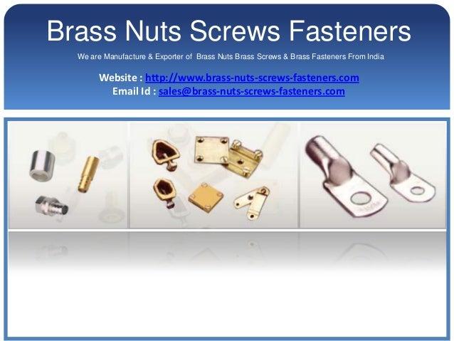Brass Nuts Brass hex Nuts Brass Machine Screws Fasteners
