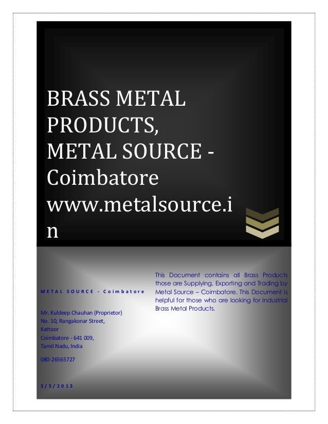 Brass Metal Products Suppliers