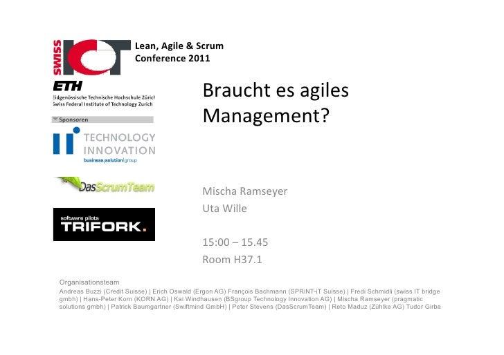 Lean, Agile & Scrum                          Conference 2011                                                ...