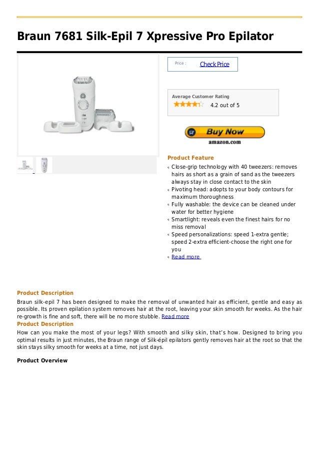Braun 7681 silk epil 7 xpressive pro epilator