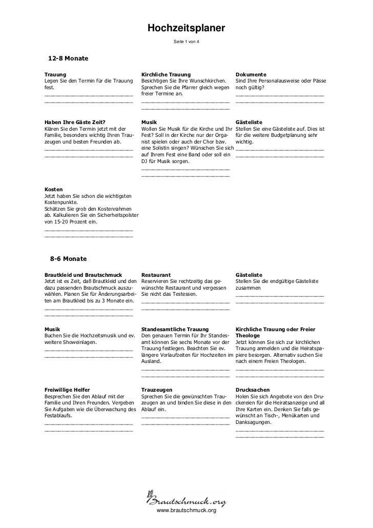 Hochzeitsplaner                                                          Seite 1 von 4 12-8 MonateTrauung                 ...