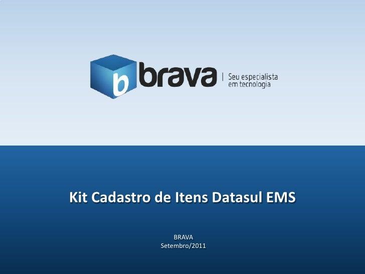 Kit Cadastro de Itens Datasul EMS                 BRAVA             Setembro/2011
