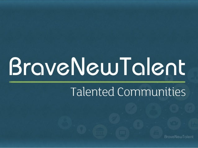Building Talented Communities