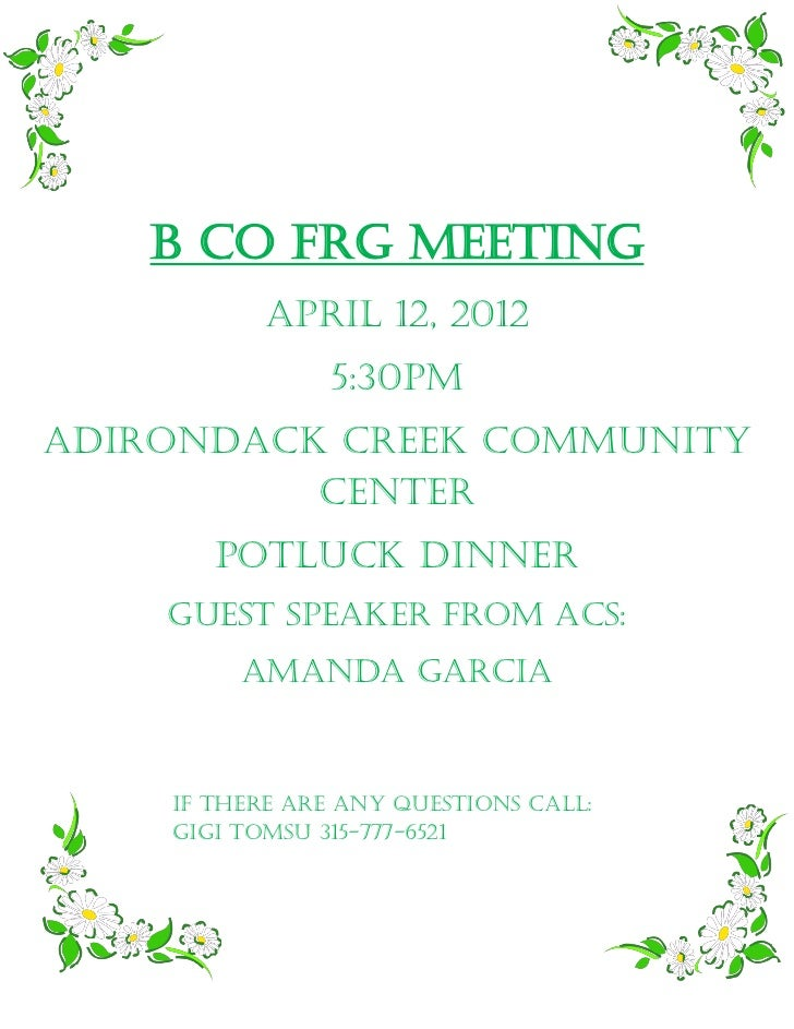 Bravo frg meeting april