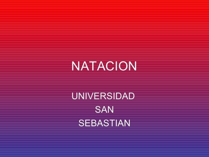 NATACION UNIVERSIDAD  SAN SEBASTIAN