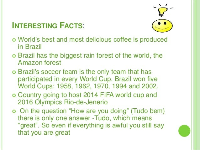 7 interesting facts about brazil for Fun facts about america