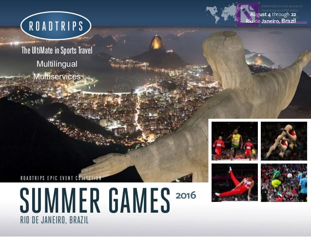 Brazil 2016 Summer Olympic Games Travel Packages
