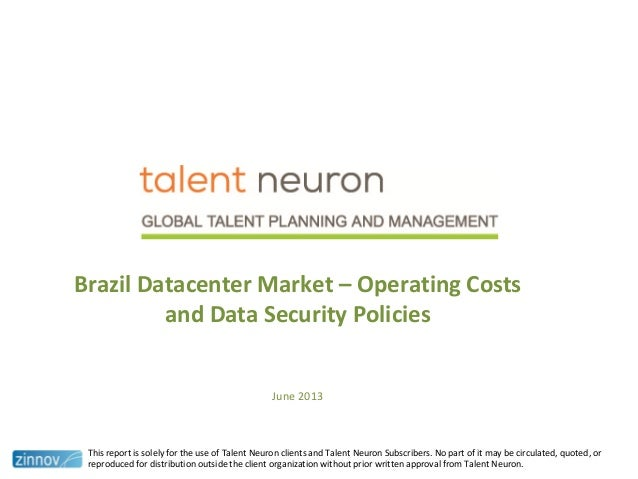 Brazil datacenter market - operating cost and data security policies