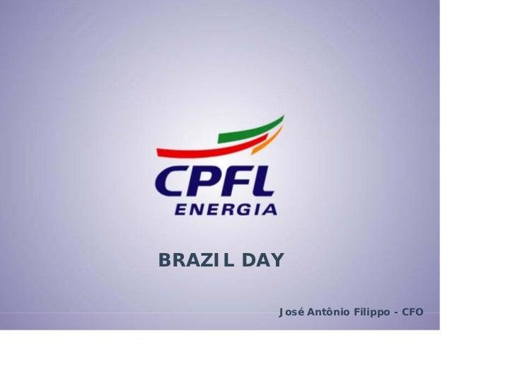 BRAZIL DAY           José Antônio Filippo - CFO