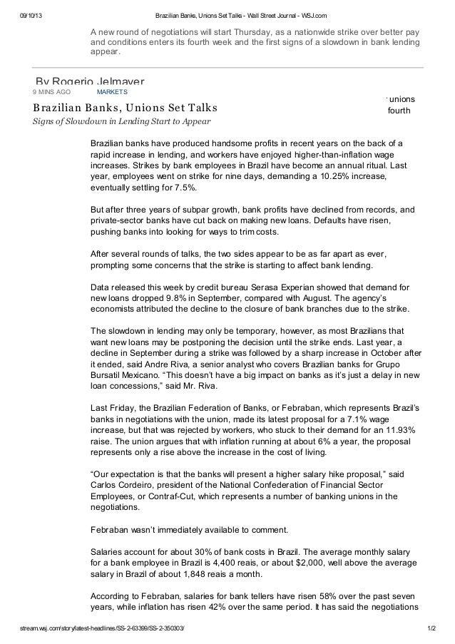 09/10/13 Brazilian Banks, Unions Set Talks - Wall Street Journal - WSJ.com stream.wsj.com/story/latest-headlines/SS-2-6339...