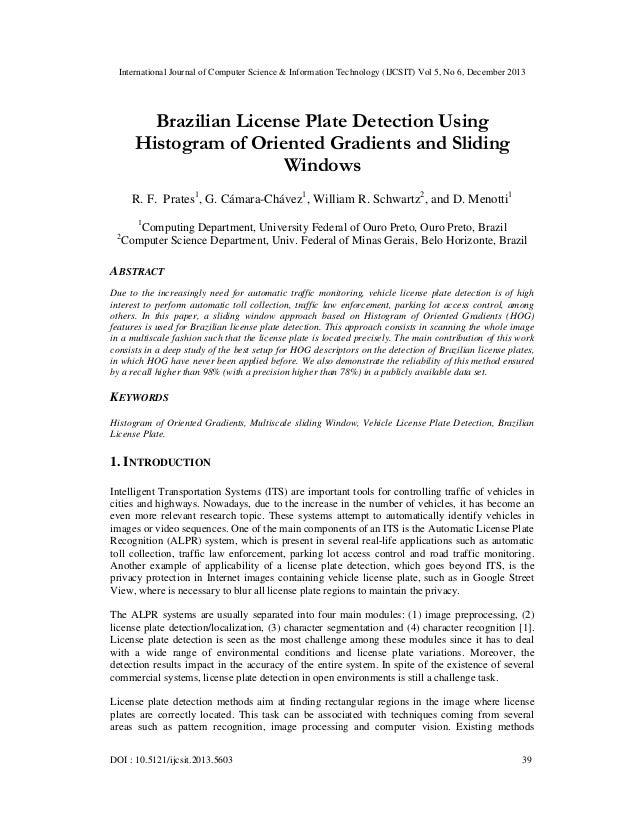 International Journal of Computer Science & Information Technology (IJCSIT) Vol 5, No 6, December 2013  Brazilian License ...