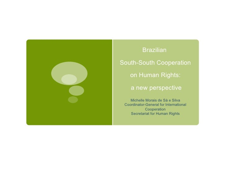 Brazil's South-South Cooperation in Human Rights