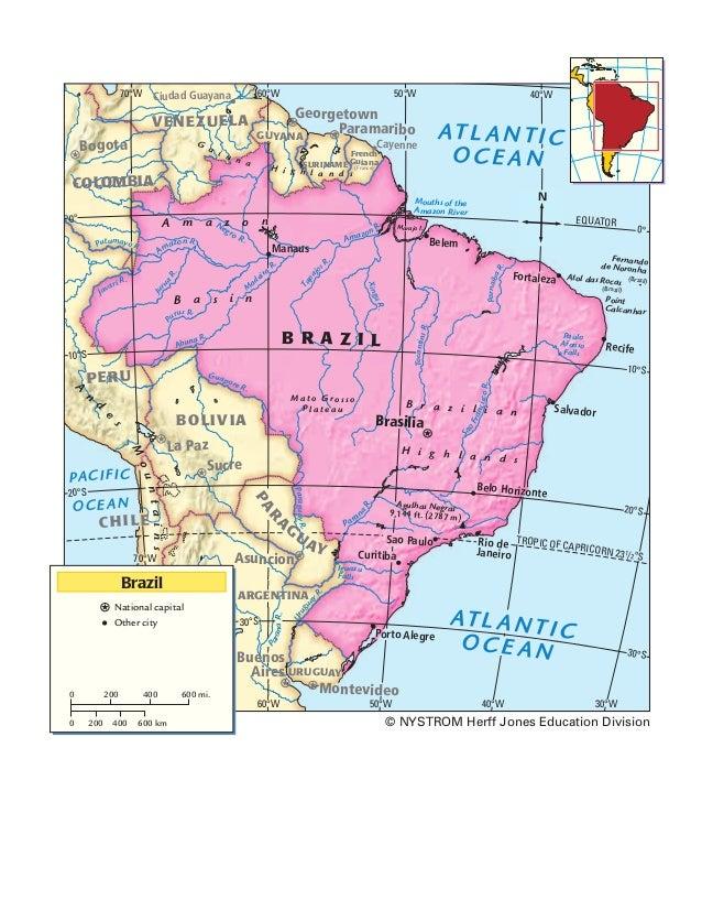 70°W 50°W60°W 40°W 30°W40°W50°W60°W 70°W 10°N 0° 10°S 20°S 30°S 0° 10°S 20°S 30°S EQUATOR TROPIC OF CAPRICORN 231/2°S Igua...