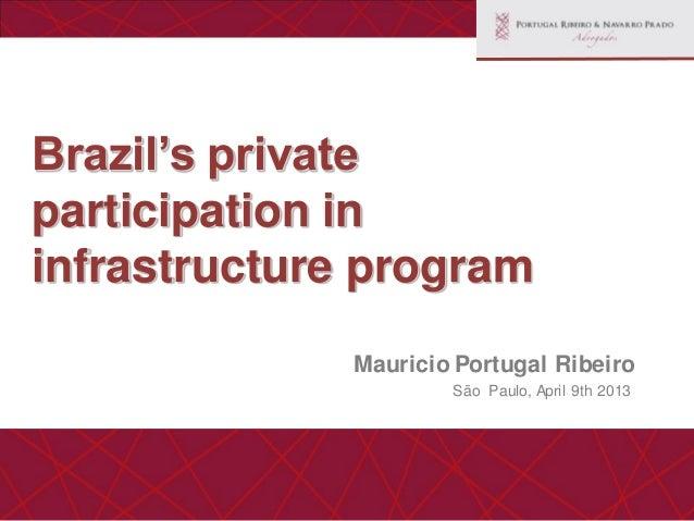 Brazil Private Participation Program in Infrastructure