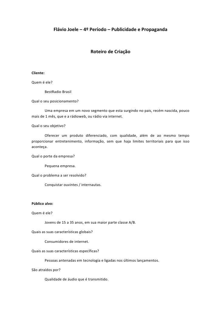 FlávioJoele–4ºPeríodo–PublicidadeePropaganda                                                                    ...