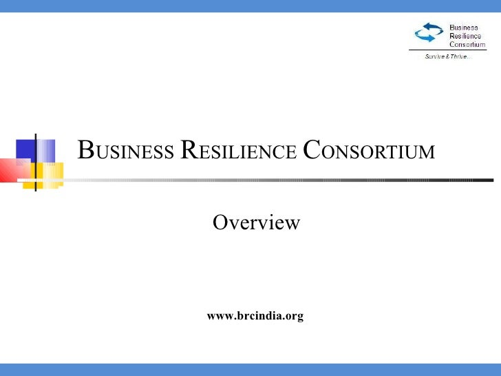 B USINESS   R ESILIENCE   C ONSORTIUM  Overview www.brcindia.org