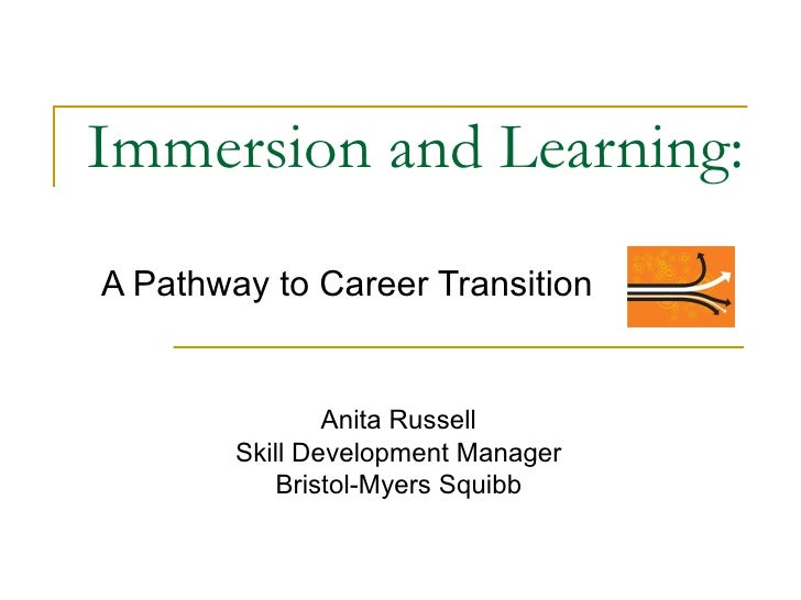 Immersion and Learning: A Pathway to Career Transition Anita Russell Skill Development Manager Bristol-Myers Squibb