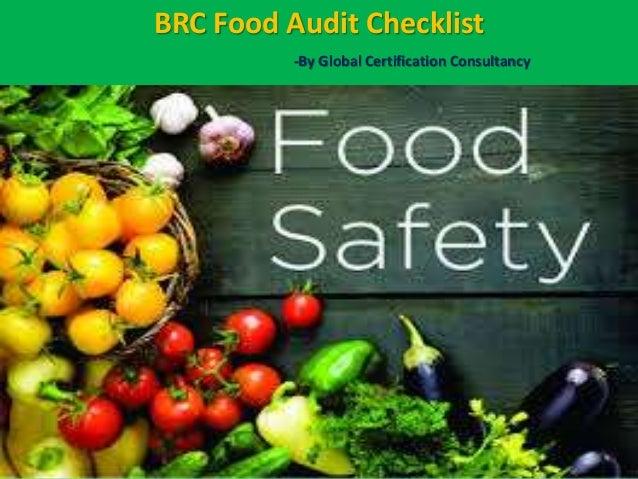 Brc food audit checklist presentation by certificationconsultancy com