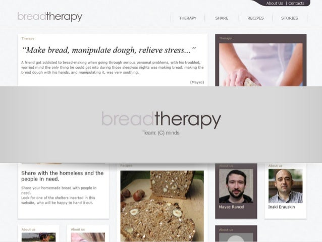 Crash Course on Creativity. Assignment 3: Bread Therapy by team (c)minds