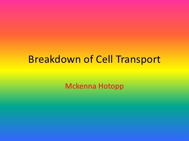 Breakdown of Cell Transport<br />MckennaHotopp<br />