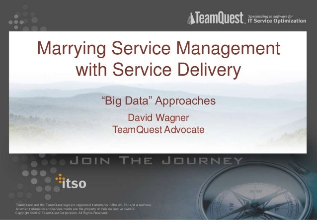 """Marrying Service Management                 with Service Delivery                                                      """"Bi..."""