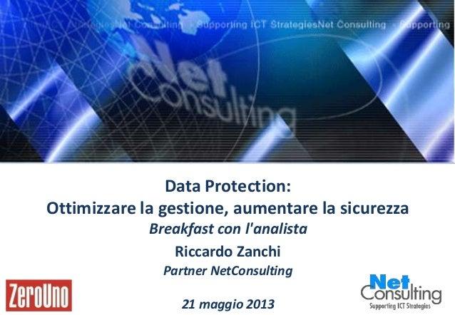 Zero Uno_Fujitsu-Intel – Milano 21 Maggio 2013 Pag. 0 Data Protection: Ottimizzare la gestione, aumentare la sicurezza Bre...