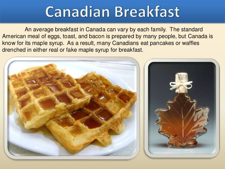 Breakfast around the world for Authentic canadian cuisine