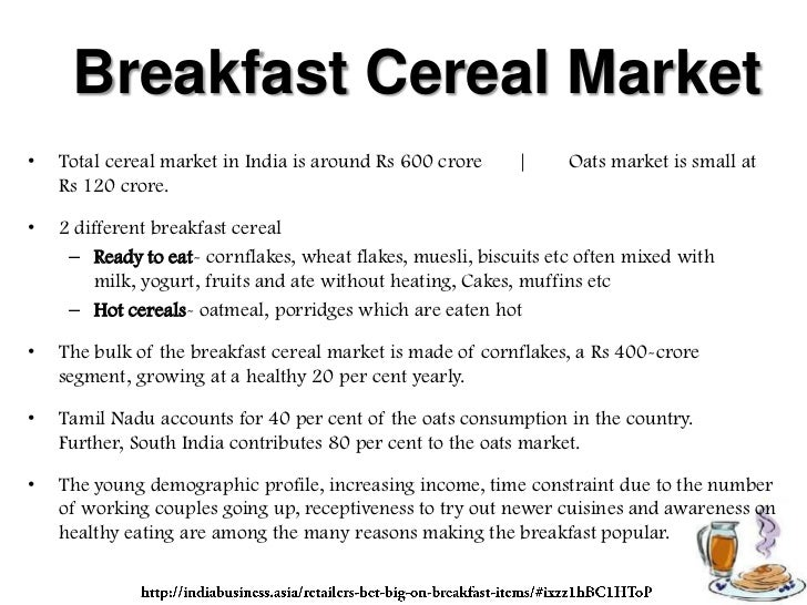 marketing plan for breakfast cereal targeting
