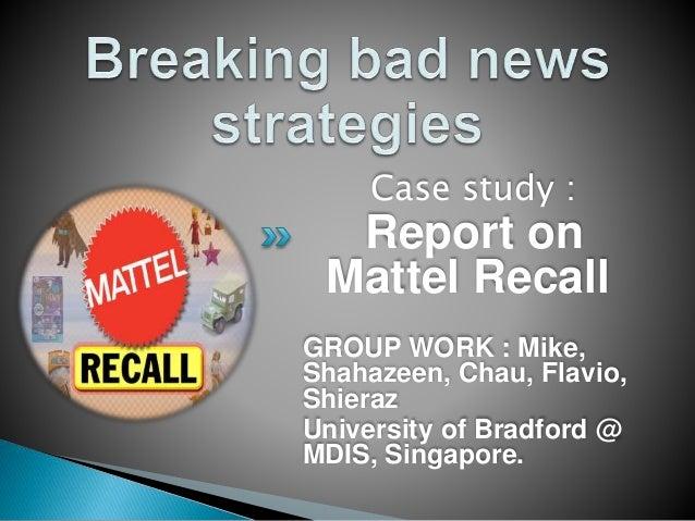 mattel crisis management case study